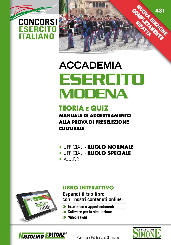 Accademia Esercito Modena - Teoria e Quiz