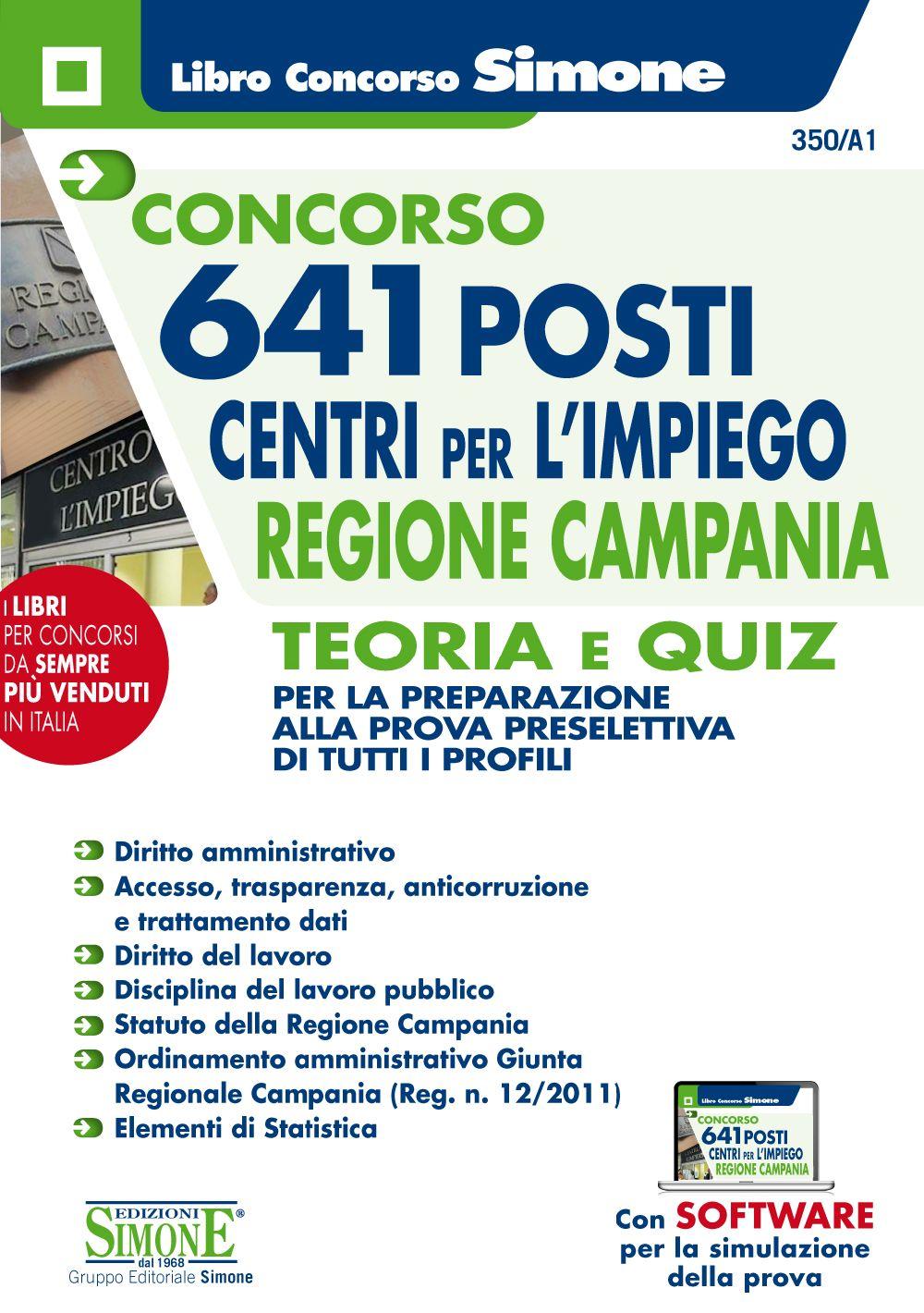 Concorso 641 posti Centri per l'impiego Regione Campania