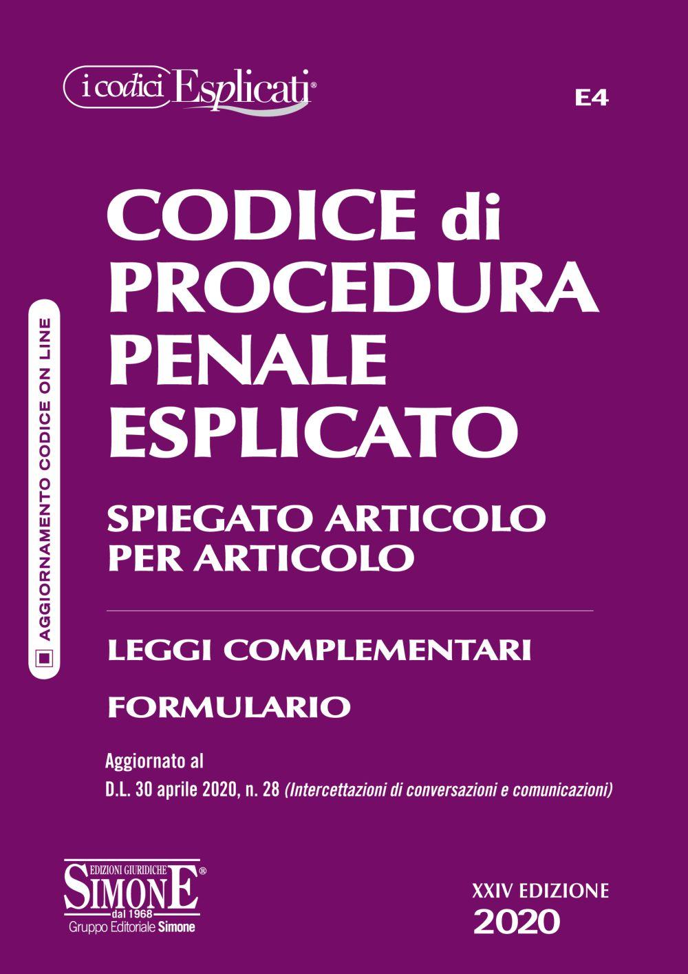 Codice Procedura Penale Esplicato