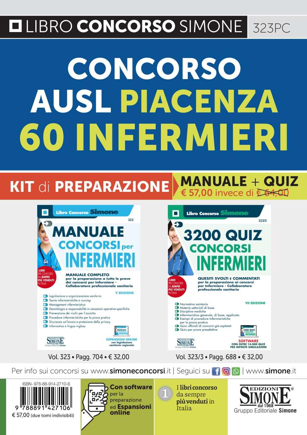 Concorso Infermieri AUSL Piacenza 60 posti