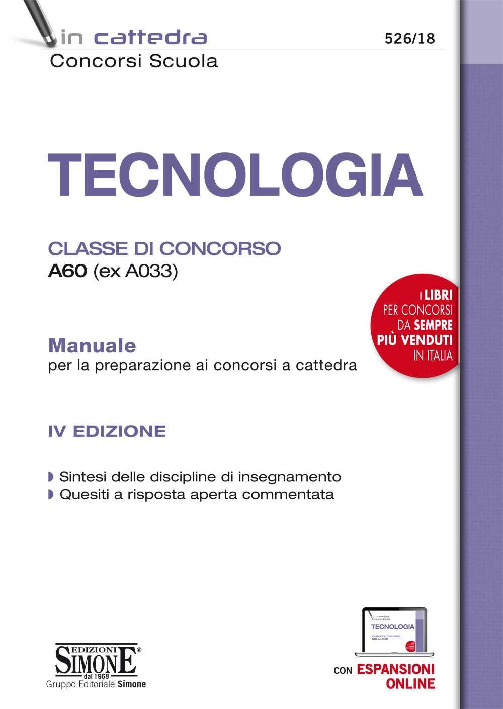 Manuale Tecnologia Classe di concorso A60