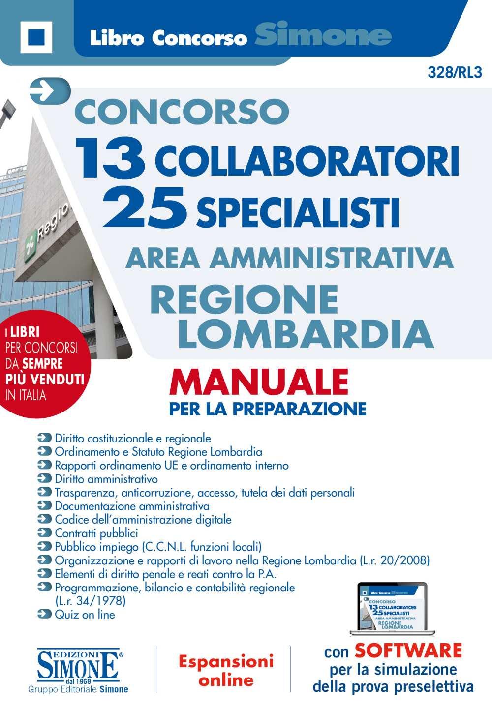 Manuale Concorso 13 Collaboratori 25 Specialisti Area Amministrativa Regione Lombardia