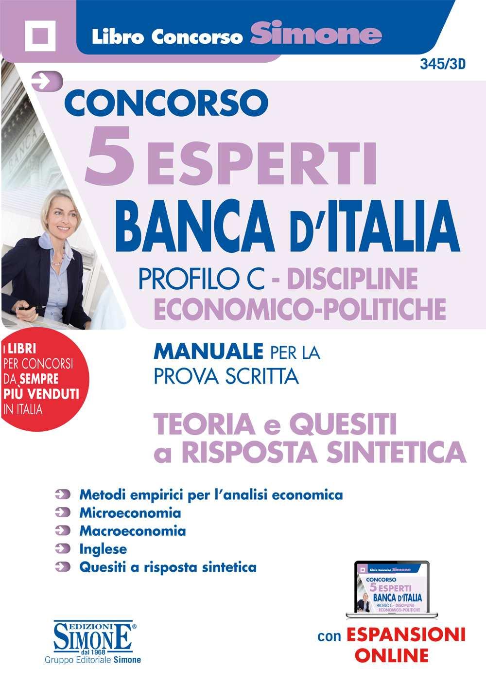 Manuale Concorso 5 Esperti Banca d'Italia