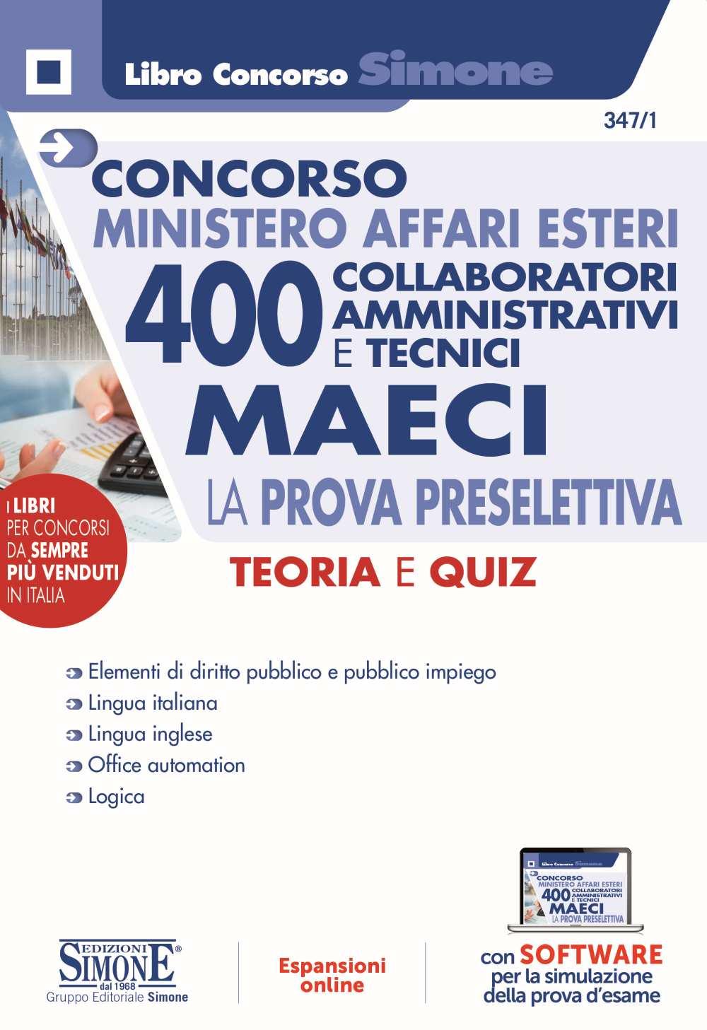 Concorso 400 Collaboratori Ministero Affari Esteri 2021