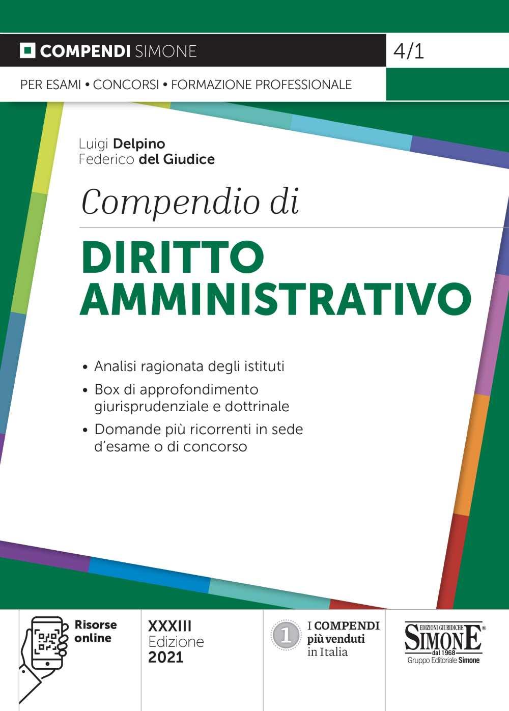Compendio di Diritto Amministrativo 2021