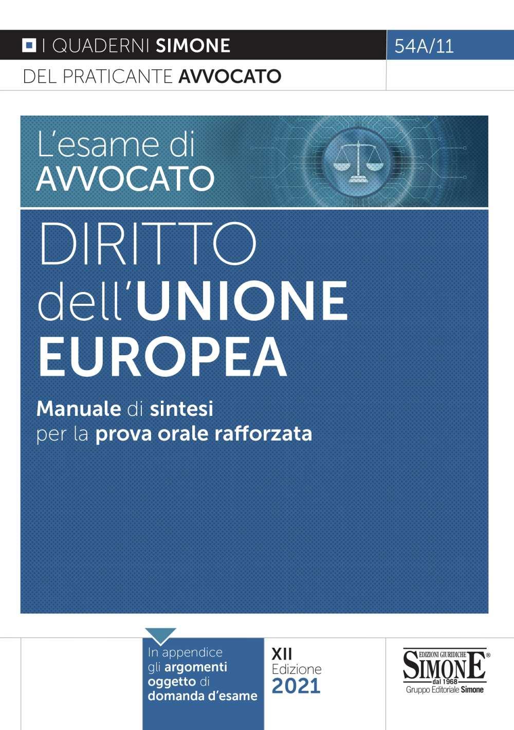 sintesi Diritto Unione Europea