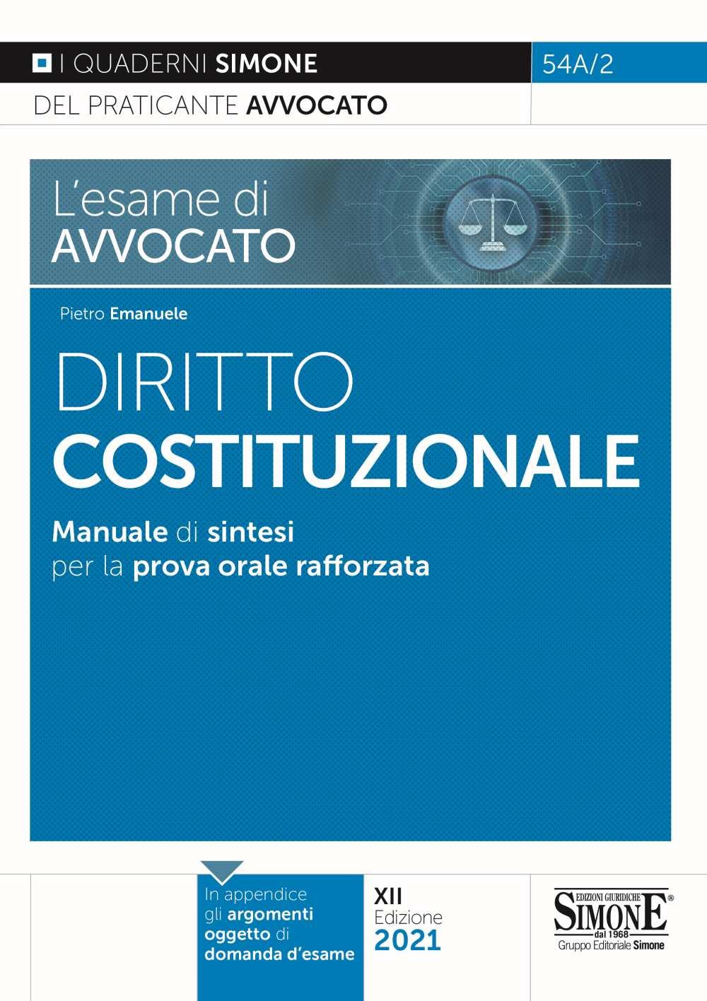 esame di avvocato - Diritto Costituzionale - Manuale di sintesi