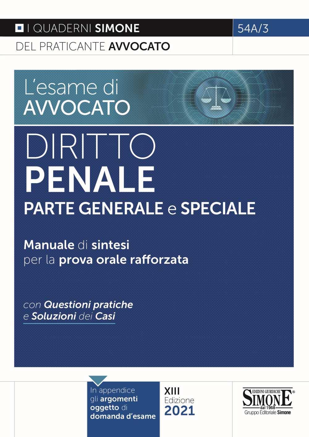 esame avvocato Diritto Penale 2021