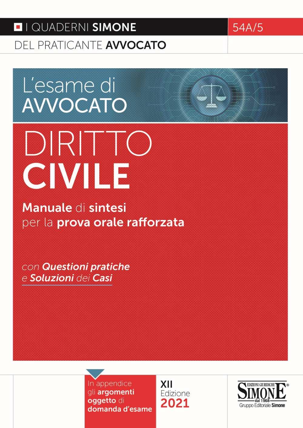 esame avvocato Diritto Civile 2021
