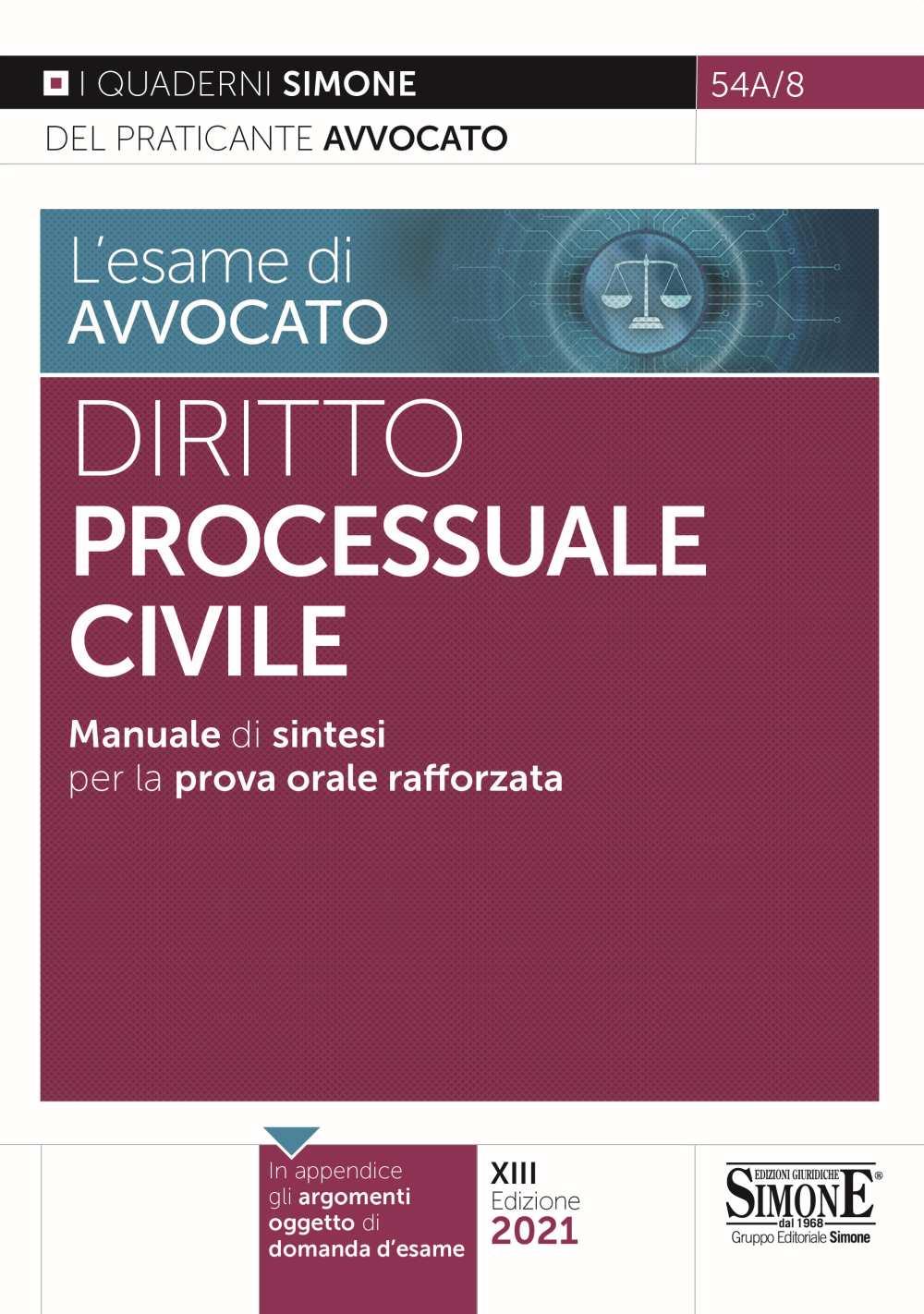 Sintesi Diritto Processuale Civile