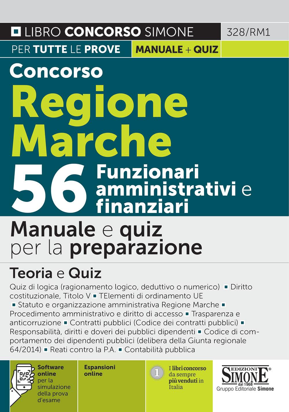 Manuale Concorso Regione Marche 56 posti
