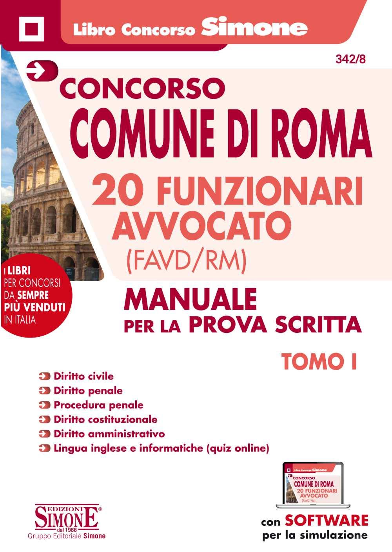 20 Funzionari Avvocato Concorso Comune di Rom