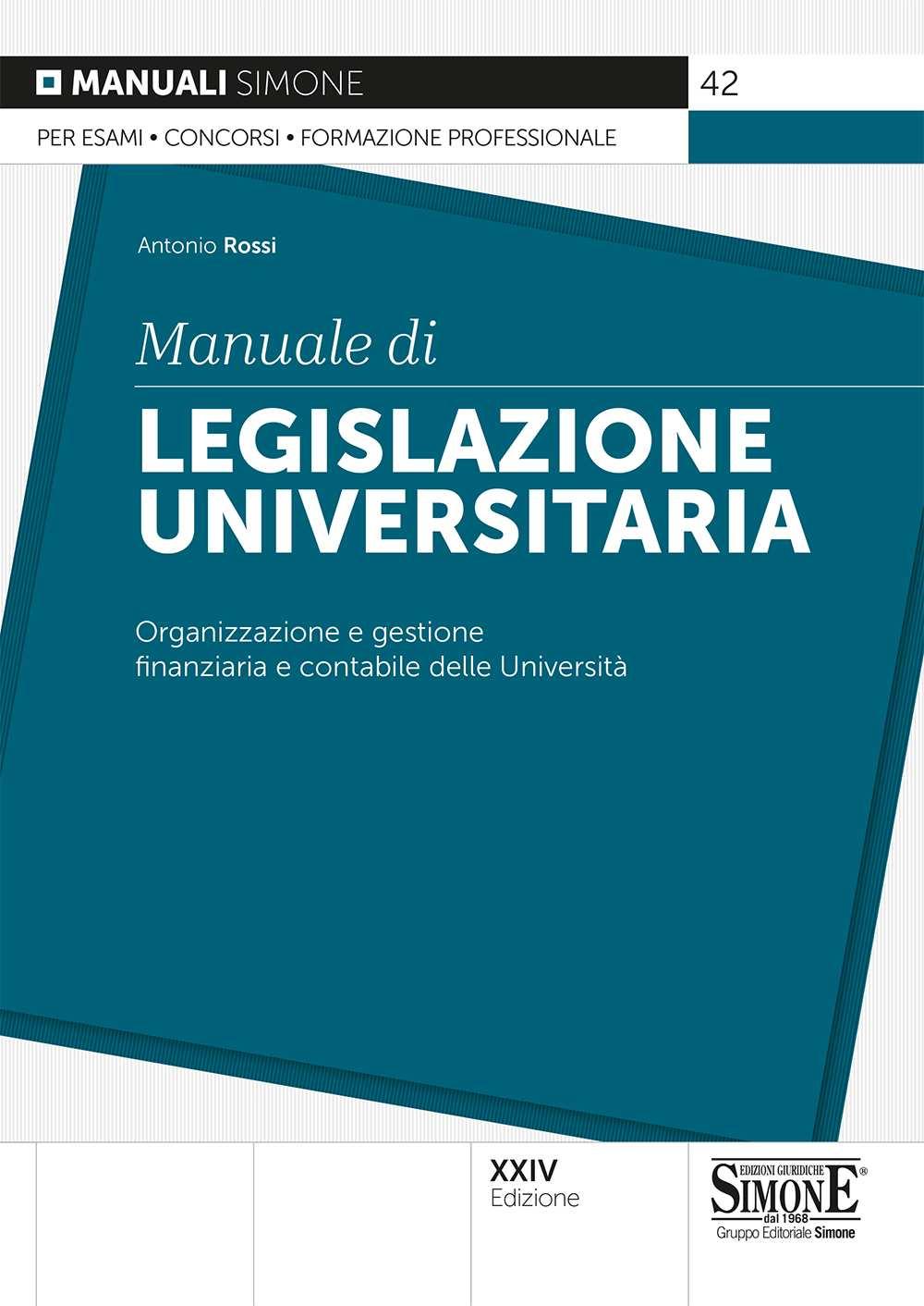 Manuale di Legislazione Universitaria