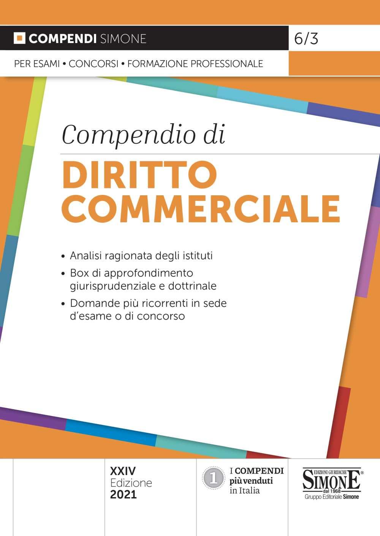 Compendio di Diritto Commerciale 2021