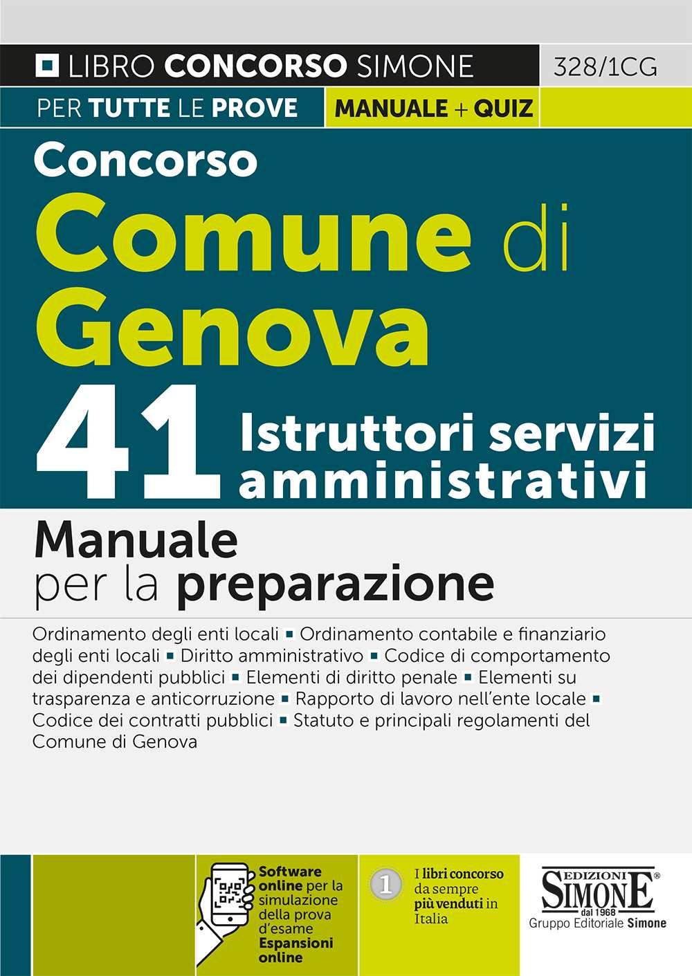 Concorso Comune di Genova 41 Istruttori servizi