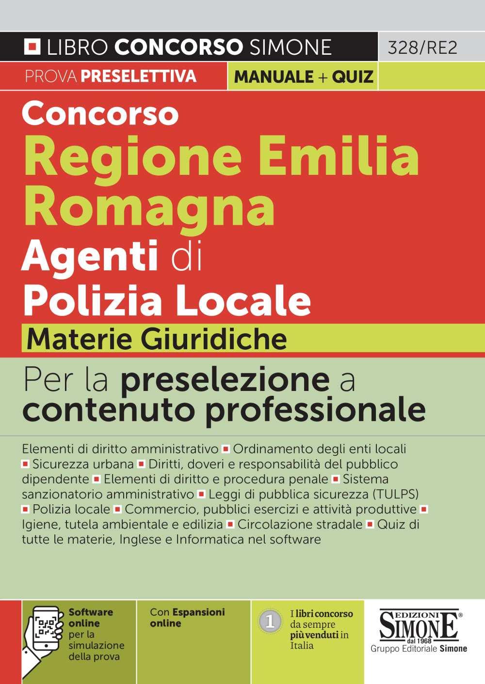 Concorso Regione Emilia Romagna Agenti di Polizia Locale