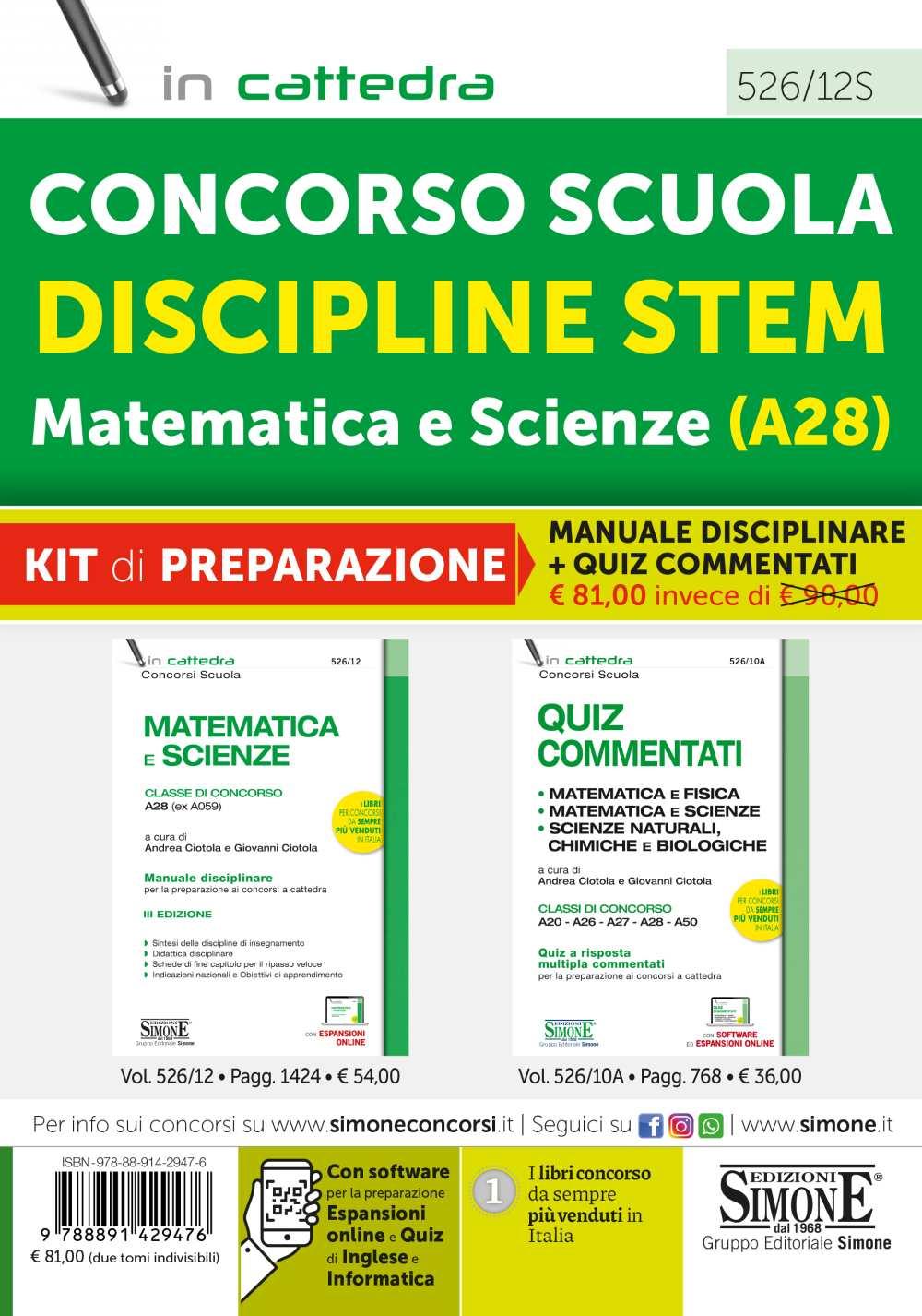 Matematica e Scienze A28