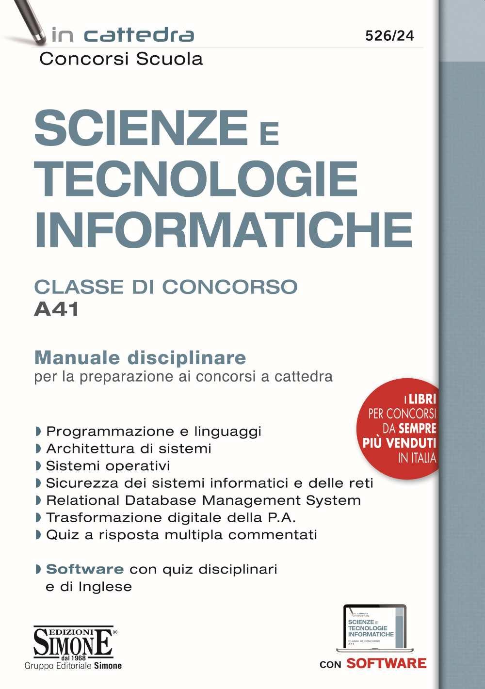 A41 Scienze e tecnologie informatiche