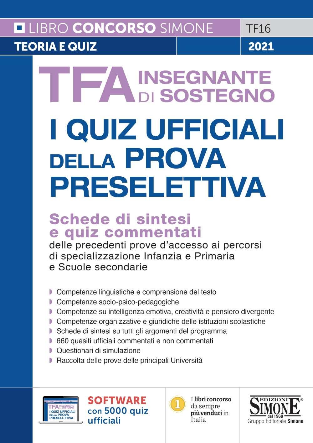 Quiz TFA Insegnante di sostegno