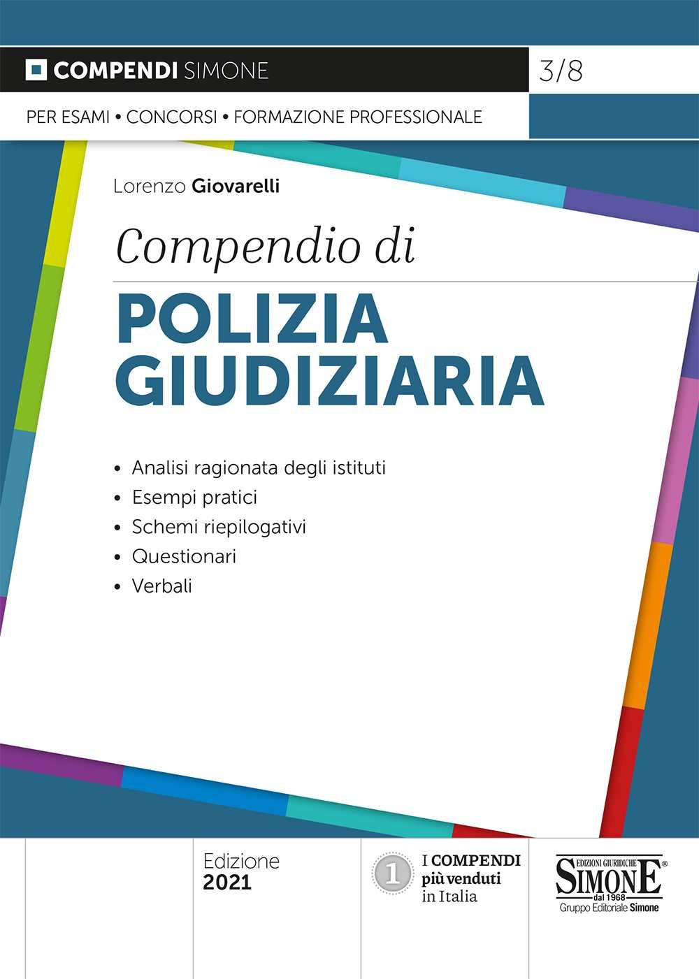 Compendio di Polizia Giudiziaria 2021