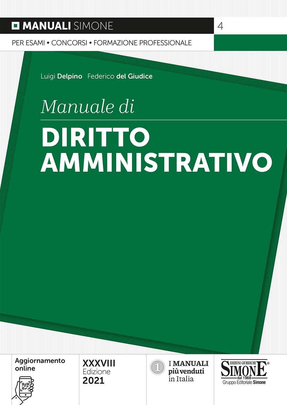 Manuale di Diritto Amministrativo 2021
