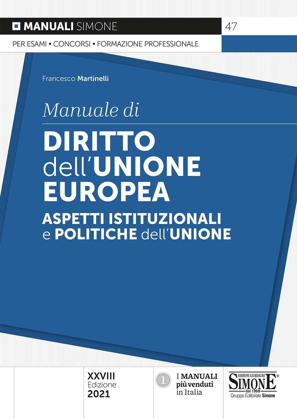 Manuale di Diritto dell'Unione europea 2021