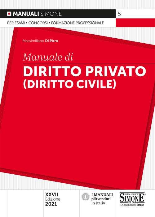 Manuale di diritto privato 2021