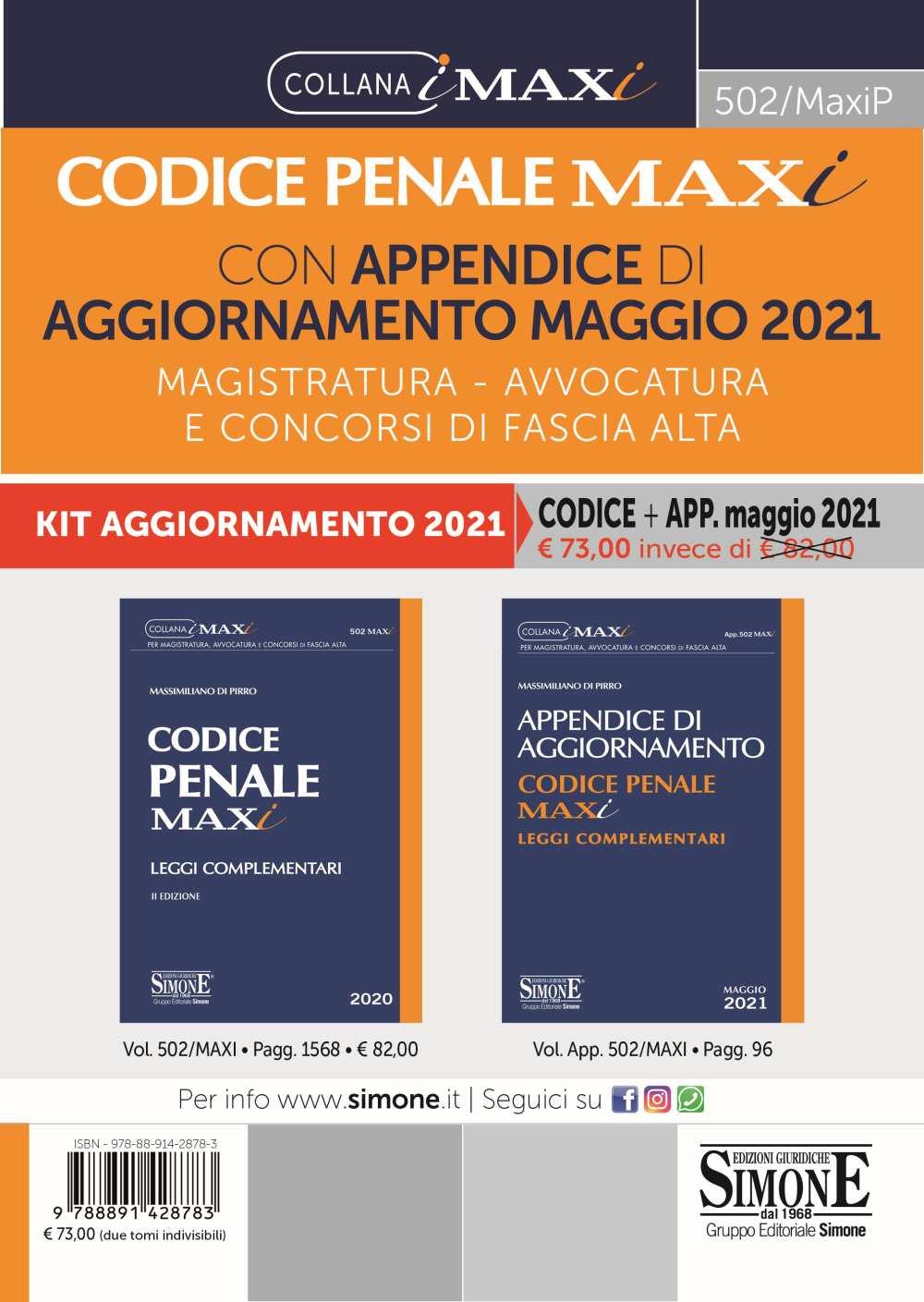 Codice Penale aggiornato a maggio 2021