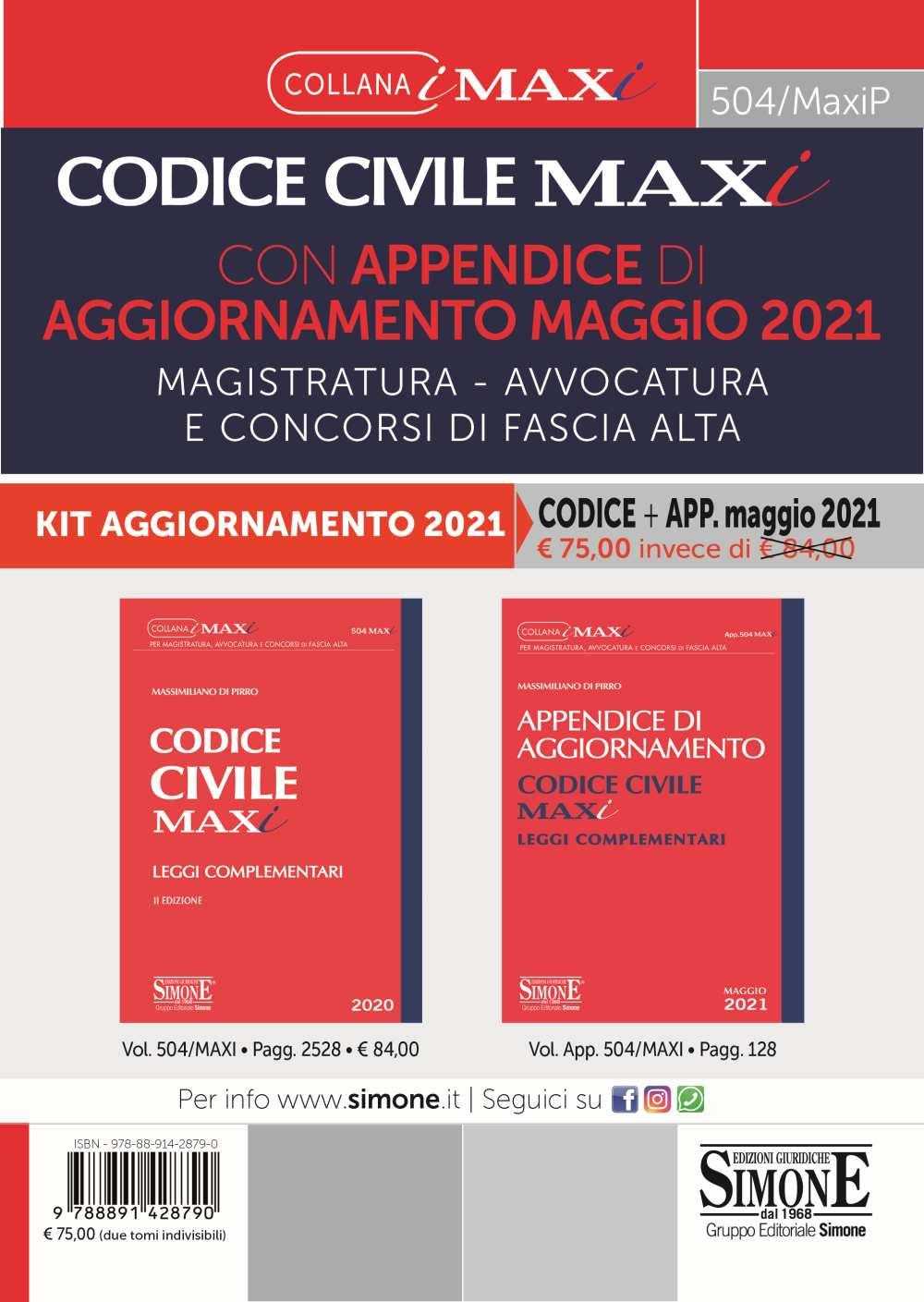 Codice Civile Maxi aggiornato