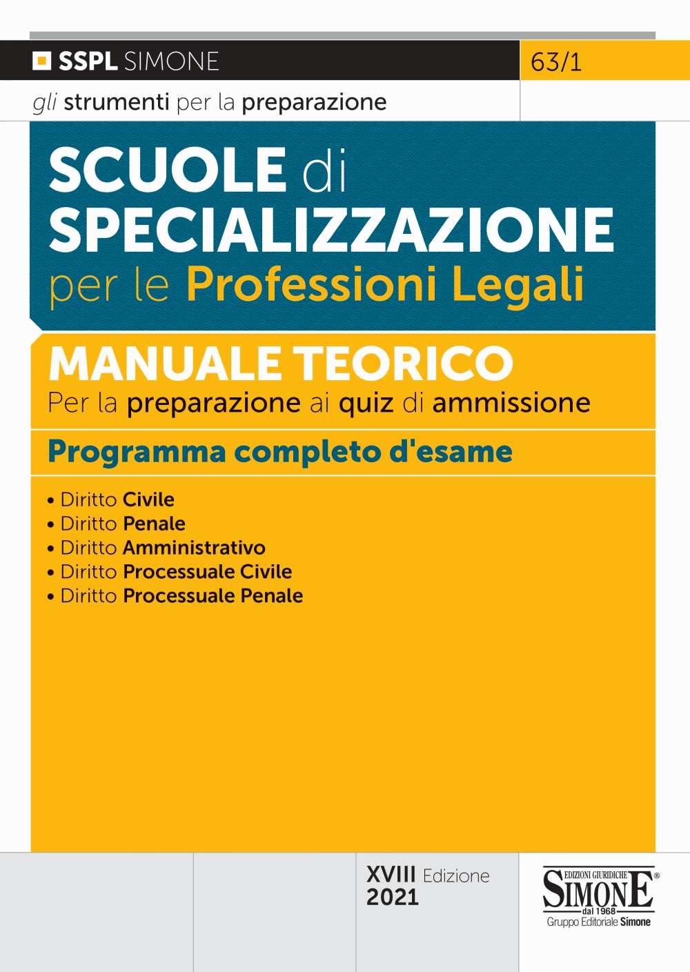 Scuole di Specializzazione per le Professioni Legali - Manuale