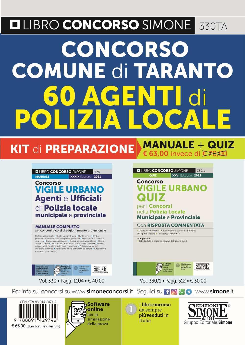 Concorso Comune di Taranto KIT di preparazione