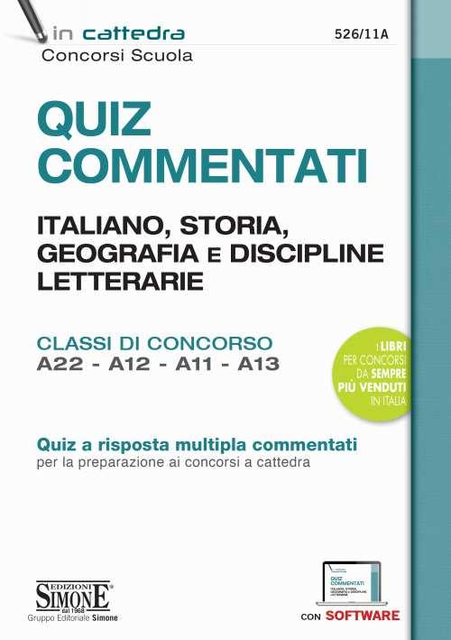 manuale Quiz Commentati Italiano, Storia, Geografia
